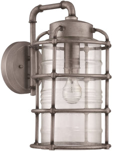 0-009855>Hadley 1-Light Outdoor Wall Light Aged Galvanized