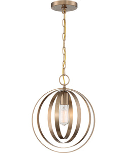 Pendleton 1-Light Pendant Burnished Brass