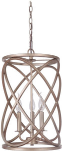 0-010190>Compass 3-Light Pendant Light w/Chain Gold Twilight