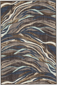 Jochebed Medium Rug Blue/Brown 5x7