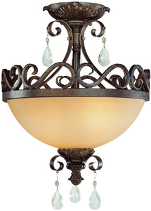 0-005720>Englewood 2-Light Semi Flush/Pendant Light French Roast