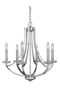 0-008525>Hayden 6-Light Chandelier Chrome