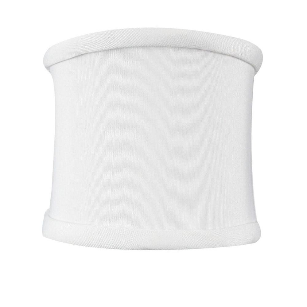 "4""W x 4""H Down White Clip-on Sconce Half-Shell Lampshade"