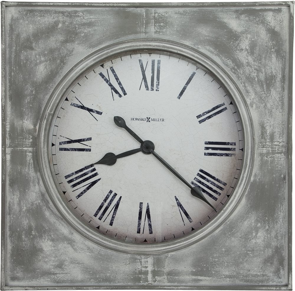 "31.5""h Bathazaar Wall Clock Aged White and Gray"