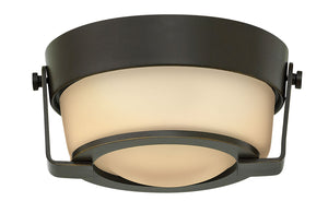 "7""W Hathaway 1-Light Flush Mount in Olde Bronze"