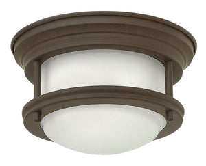 "8""W Hadley 1-Light Flush Mount in Oil Rubbed Bronze"