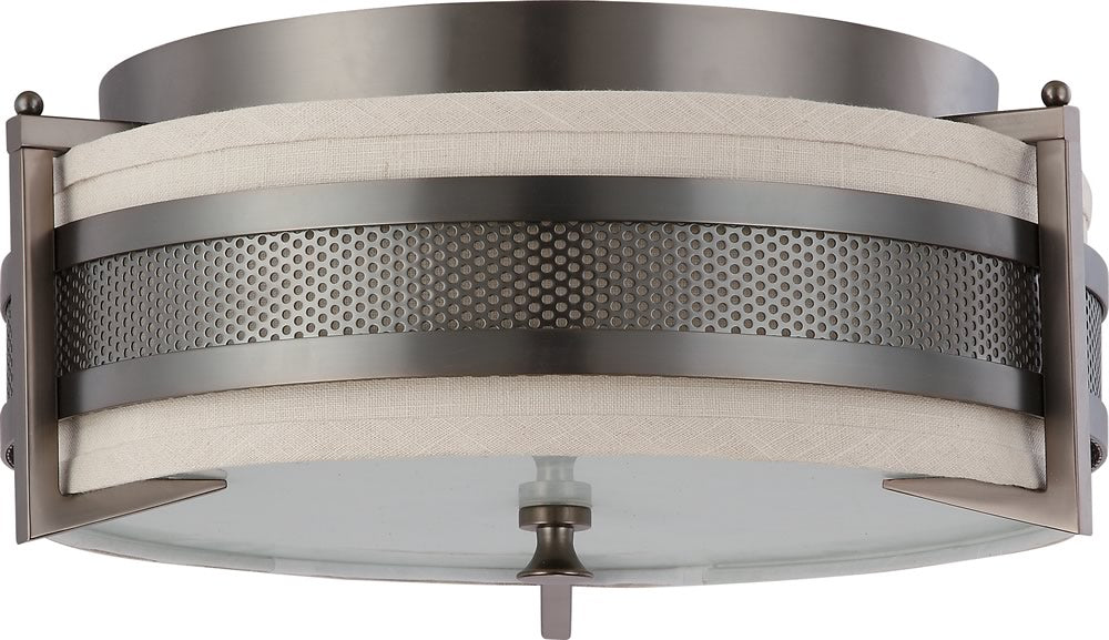 "16""W Diesel 3-Light Close-to-Ceiling Hazel Bronze"