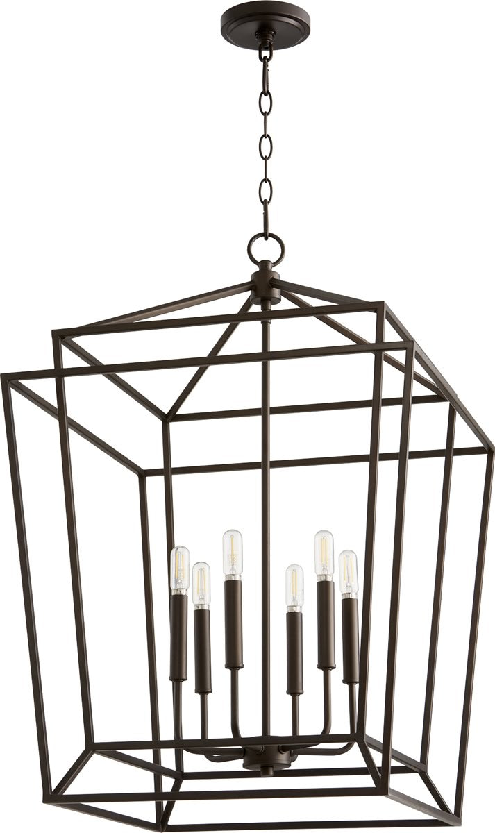 "21""W Monument 6-light Entry Foyer Hall Chandelier Oiled Bronze"