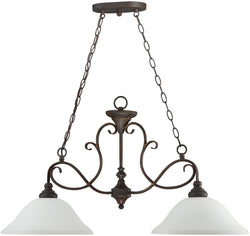 0-005030>Barrett Place 2-Light Island Pendant Light Mocha Bronze