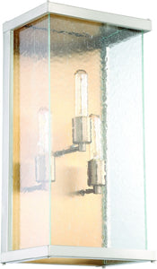 0-009209>Farnsworth 3-Light Outdoor Wall Light Brushed Nickel/Patina Aged Brass