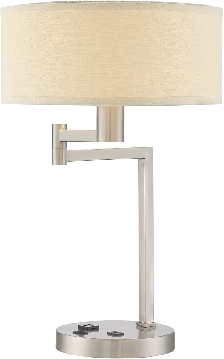 Landon 1-Light Table Lamp Polished Steel