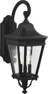 0-002110>Cotswold Lane 3-Light Wall Lantern Black