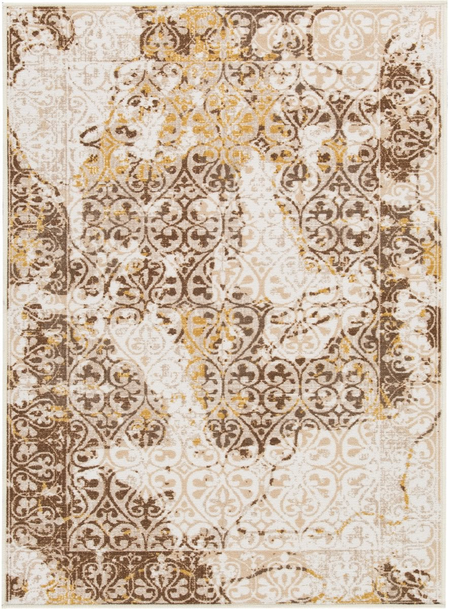 "52""W Jariath Medium Rug Ivory/Brown"