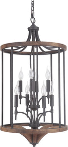 0-008770>Tahoe 8-Light Foyer Light Espresso/Whiskey Barrel
