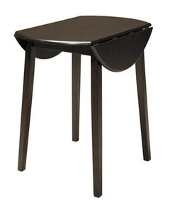 Hammis Round DRM Drop Leaf Table Dark Brown