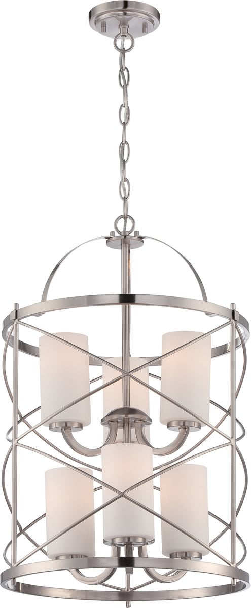 "16""W Ginger 6-Light Chandelier Brushed Nickel"