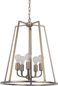 Arc 5-Light Foyer Light Satin Brass