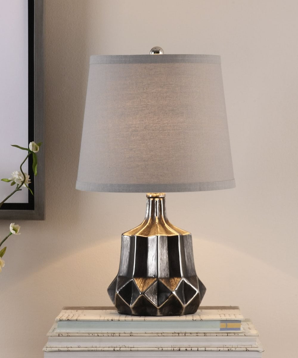 "18""H Felice Dark Charcoal Accent Lamp"