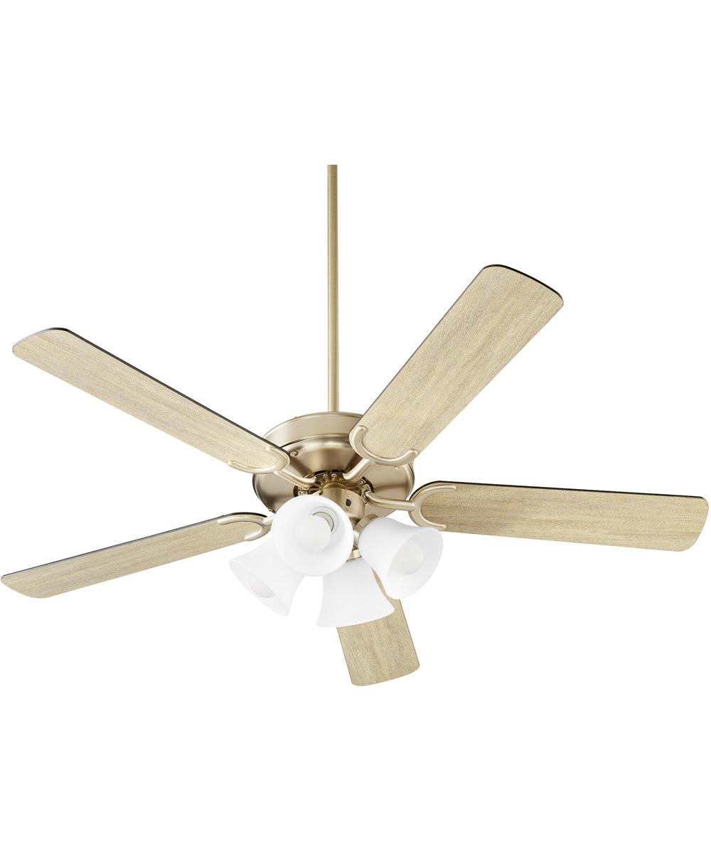 Virtue 4-light LED Ceiling Fan Aged Brass