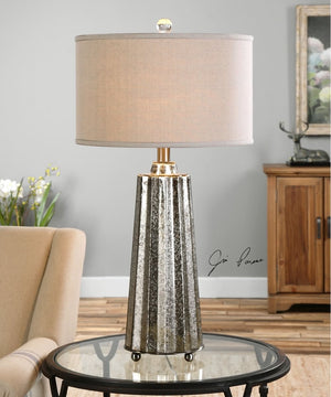 "33""H Sullivan Mercury Glass Table Lamp"