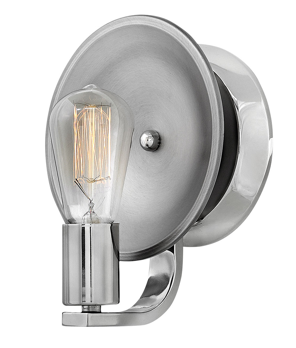 Boyer 1-Light Sconce in Polished Nickel
