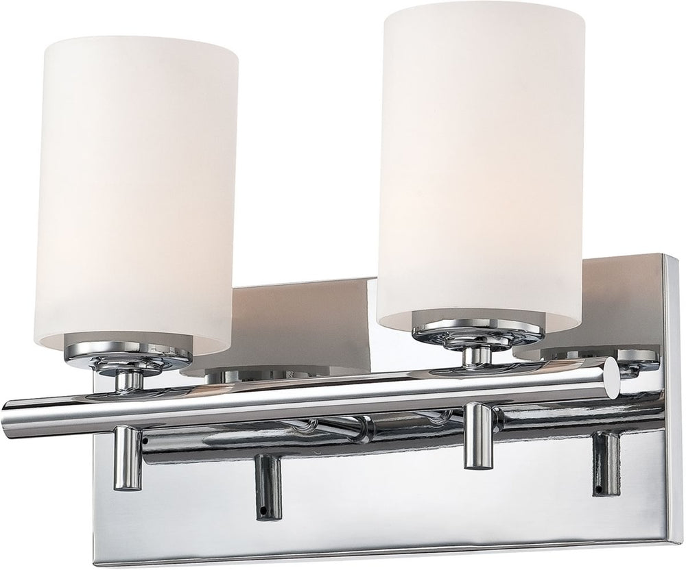 "12""W Barro 2-Light Vanity Chrome/White Opal Glass"