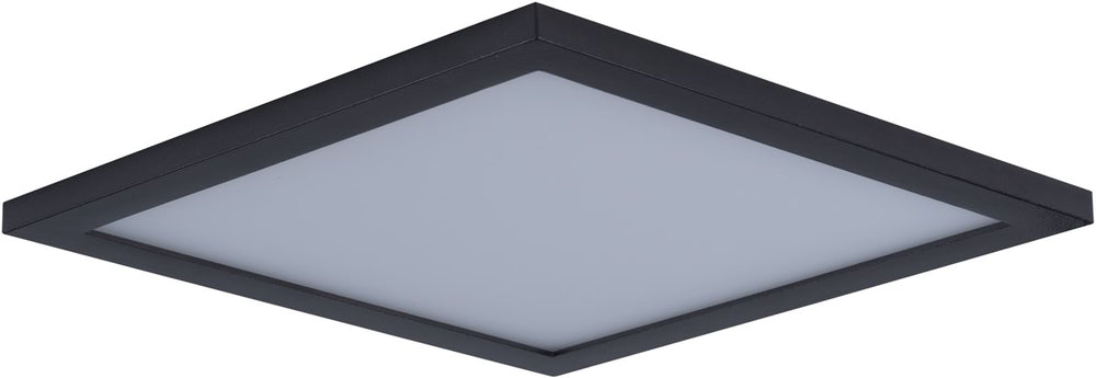"15""W Wafer LED SQ 3000K Flush Mount Bronze"
