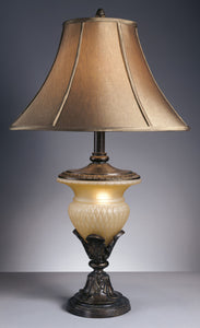 "Danielle 34""H Glass Table Lamps (Set of 2) Bronze"
