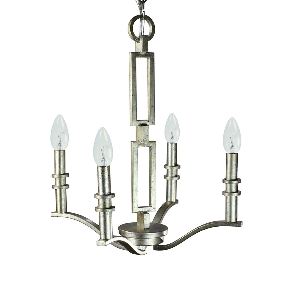"Capital lighting 21""W 4-Light Winter Gold Up Chandelier without Shades 3974WG-000"