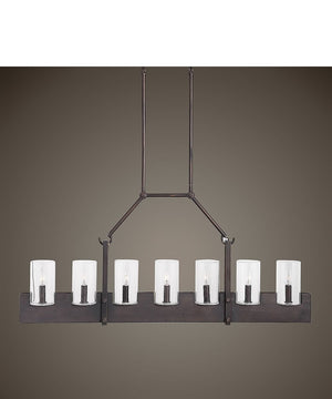 "47""W Pinecroft 7 Light Island Linear Pendant"