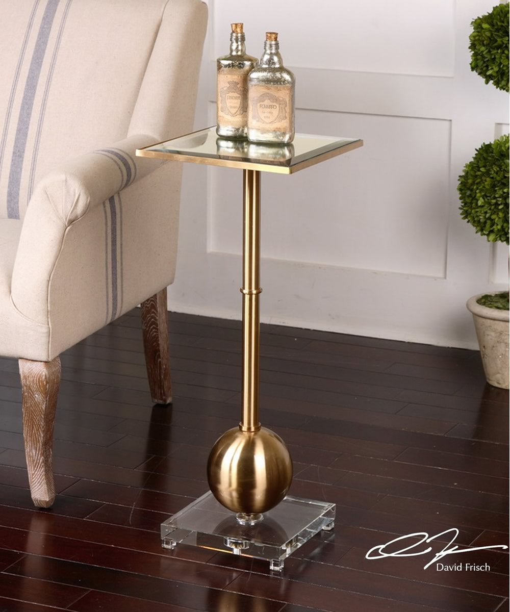 "29""H Laton Mirrored Accent Table"