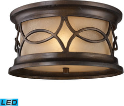 Burlington Junction 2-Light Outdoor LED Flush Mount Hazelnut Bronze