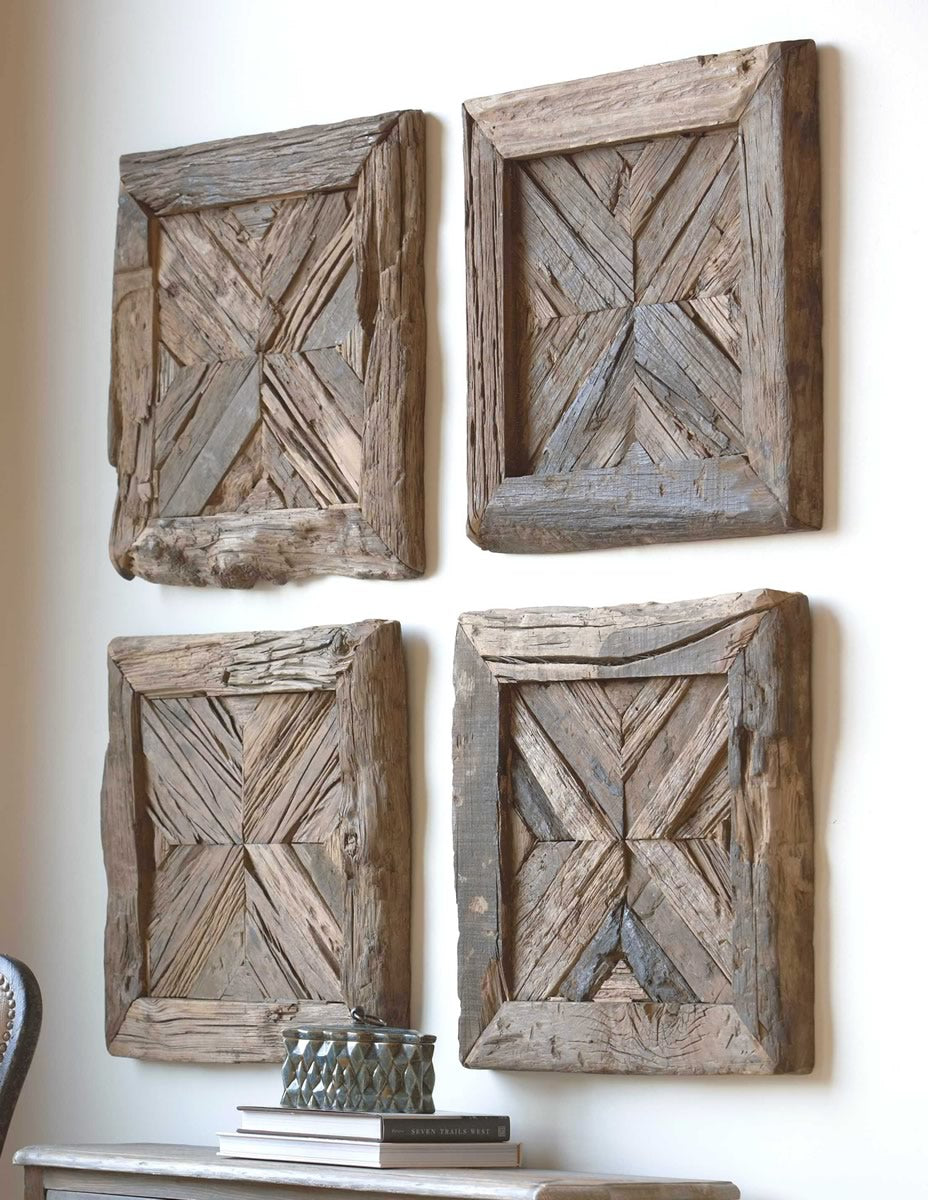 "21""H Rennick Reclaimed Wood Wall Art"