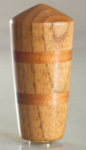 "2""H Butter Nut and Cherry Dome Finial Rubbed Oil"