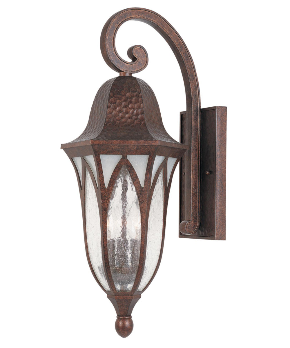 "23""h Berkshire Outdoor Wall Lantern Burnished Antique Copper"