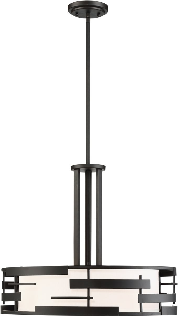 "21""W Lansing 3-Light Pendant Textured Black"