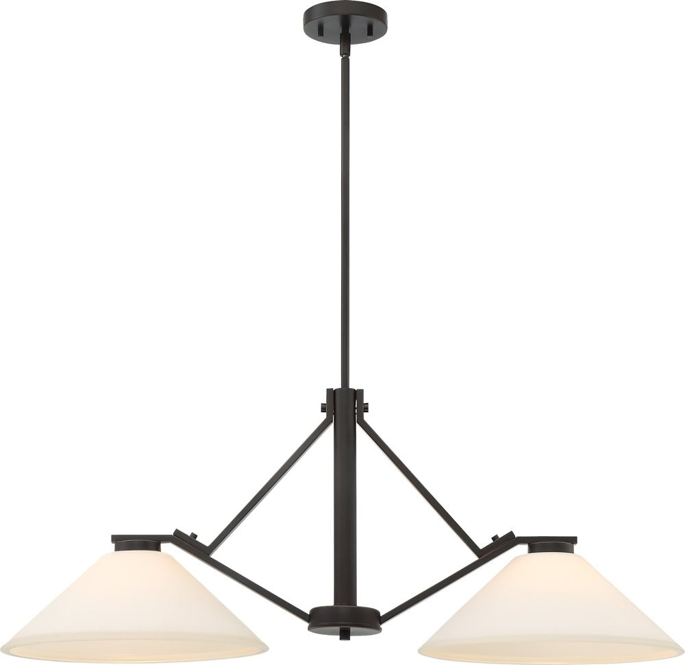 "37""W Nome 2-Light Pendant Mahogany Bronze"