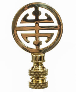 "2""H Asian Classic Finial Polished Brass"