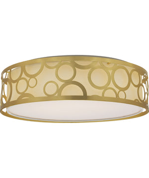 "15""W Filigree 1-Light Close-to-Ceiling Natural Brass"