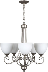 0-013023>Raleigh 5-Light Chandelier Satin Nickel