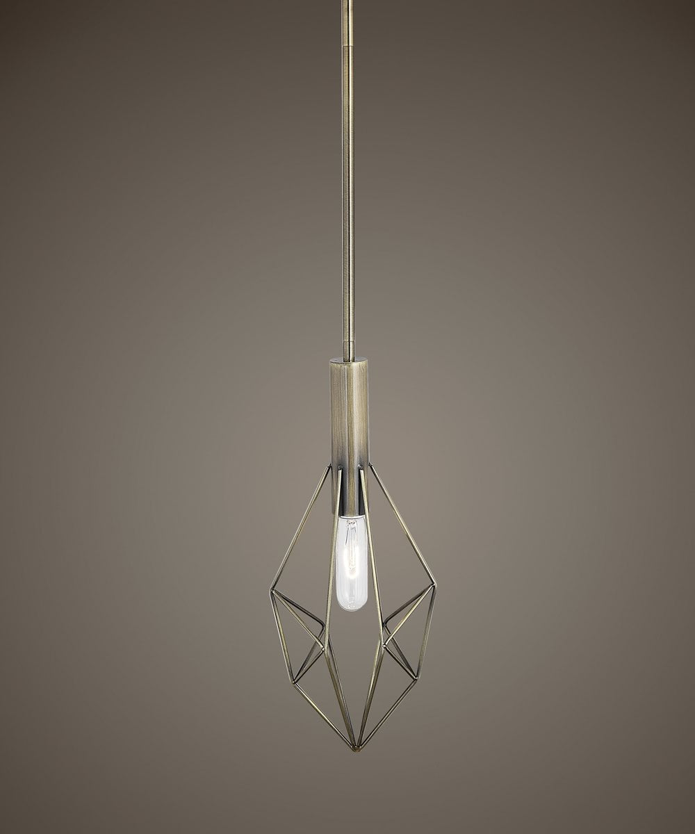 Rasmus 1 Light Geometric Mini Pendant
