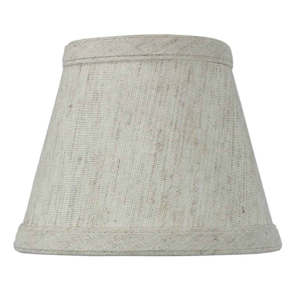 "5""W x 4""H Textured Oatmeal Clip-on Candelabra Shade"