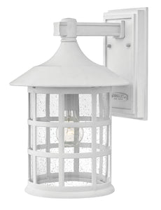 "15""H Freeport 1-Light Large Outdoor Wall Light in Classic White"