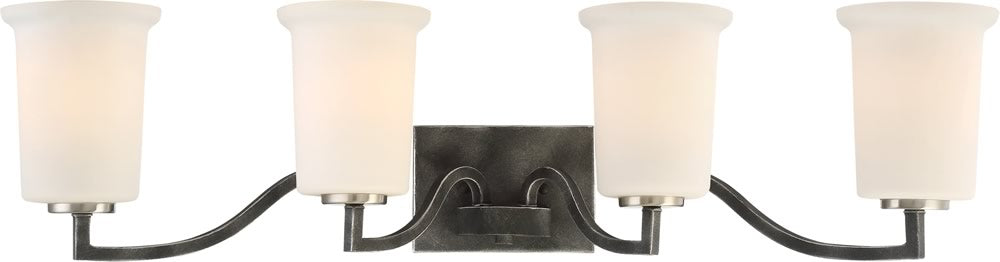 "34""W Chester 4-Light Vanity & Wall Iron Black"