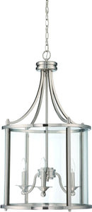 0-008140>Carlton 3-Light Pendant Light Brushed Nickel