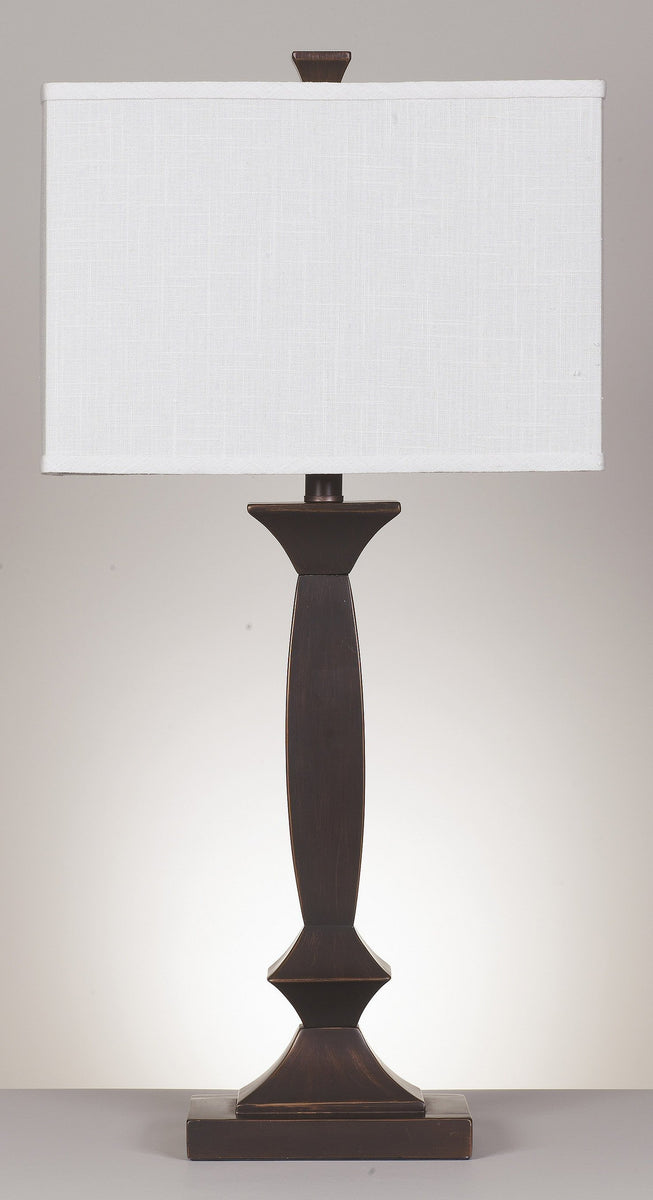 "30""H Laine Set of 2 3-Way Table Lamps Bronze"