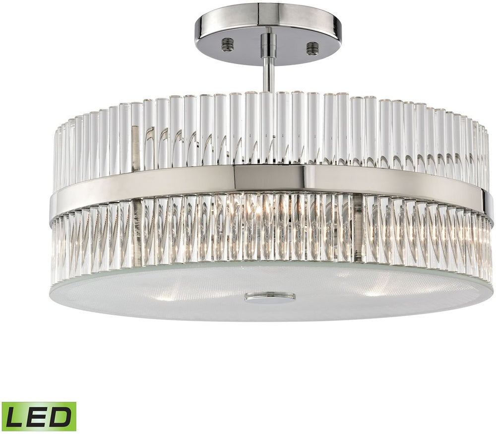 "14""W Nescott 3-Light LED Semi Flush Polished Chrome"