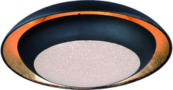 Iris LED 1-Light Flush Mount Gold Leaf / Black