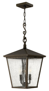 Trellis 3-Light Outdoor Hanging Light in Regency Bronze