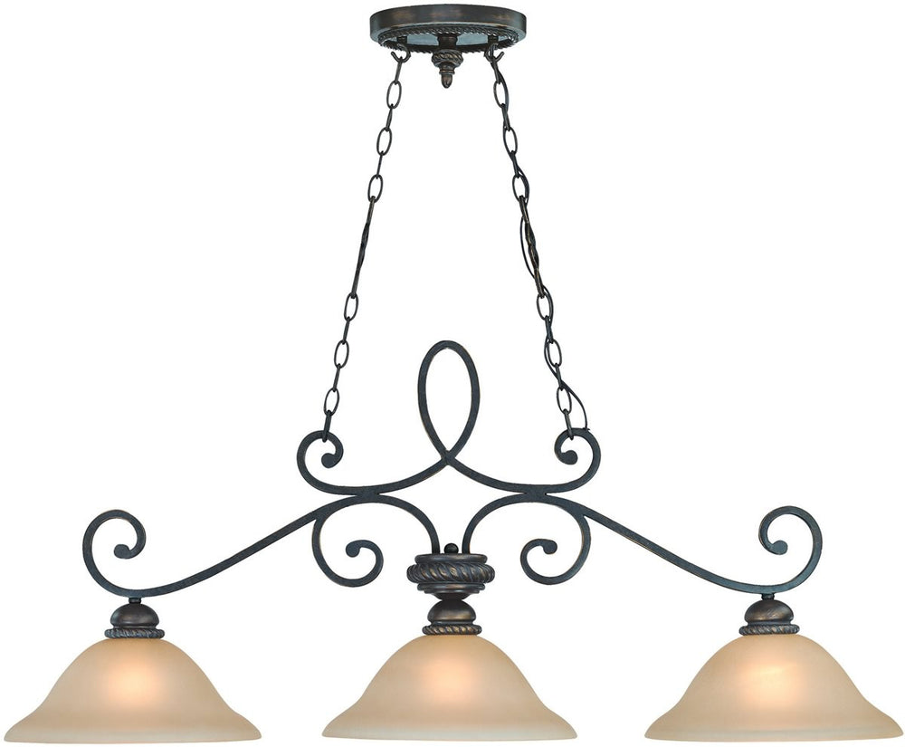 "46""W Highland Place 3-Light Island Pendant Light Mocha Bronze"